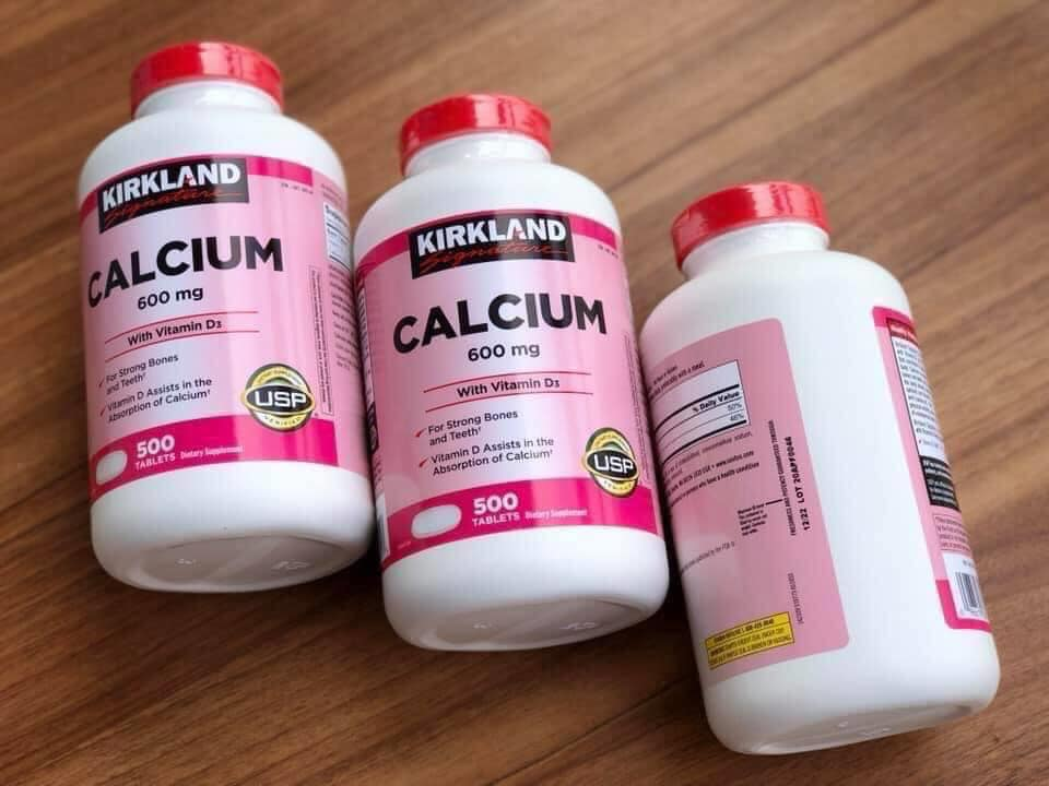 cach su dung Kirkland Calcium 600mg with Vitamin d3